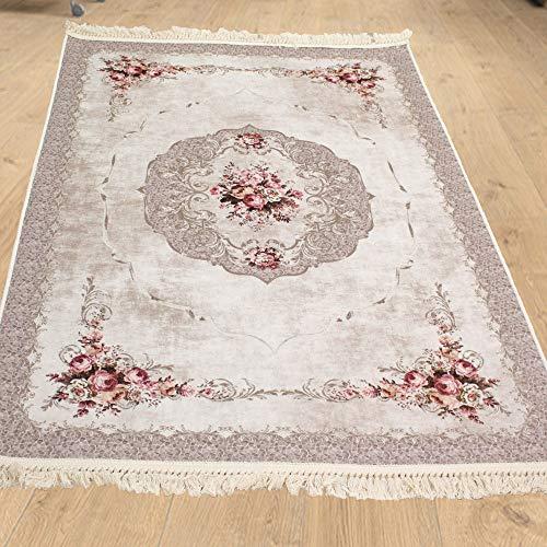 Brillant Teppich Teppich 195 x 300 cm eckig rutschfest pflegeleicht top Qualität 4 Jahreszeiten orientalisch für Ihr zu Hause Meric 803