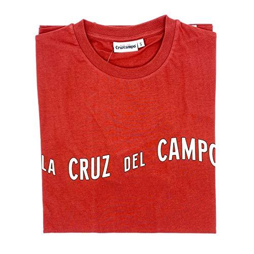 Cruzcampo Camiseta Cruz del Campo Red Woman, Maglietta Donna, Rosso, L
