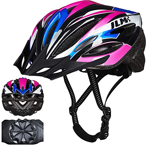 ILM Youth Adult Bike Helmet Bicycle Cycling Helmets Lightweight Quick Release Casco for Biking MTB (Purple, Large/X-Large)