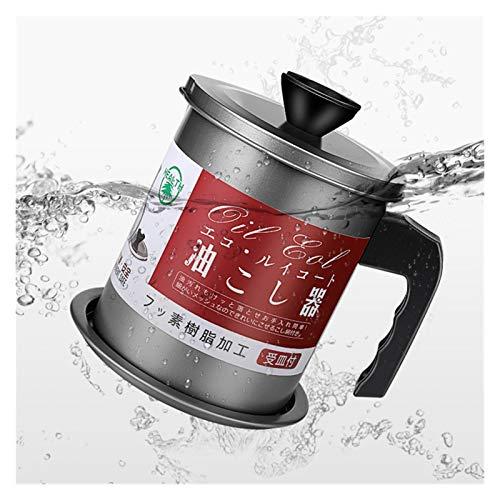 Recipiente de Grasa en Lata 1.4L prueba de fugas Can grasa Recipiente herramienta de la cocina marmita de cocción separador freír multifunción Crisol Con almacenaje de petróleo colador
