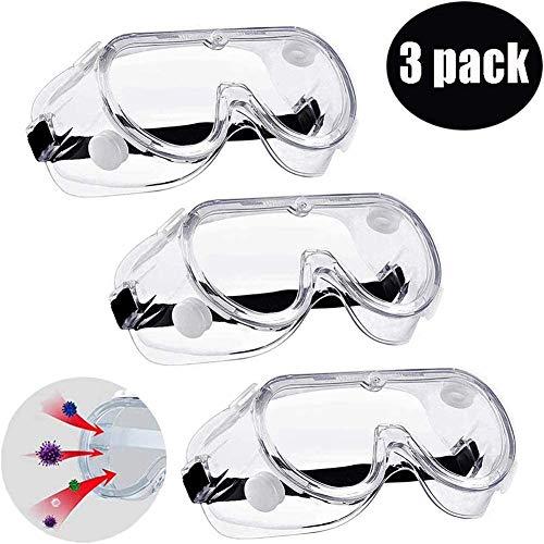 Veiligheidsbril Volwassenen Verstelbare veiligheidsbril Spatwaterdicht Anti-condens Heldere lens Brillen Gebruik met bril op sterkte