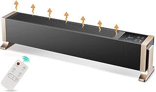 FUTNhot Rodapié Radiador eléctrica de convección de la Placa Base del Calentador, radiador de calefacción 1800w de Ahorro de energía Home Temperatura Control Inteligente (Color : Negro)