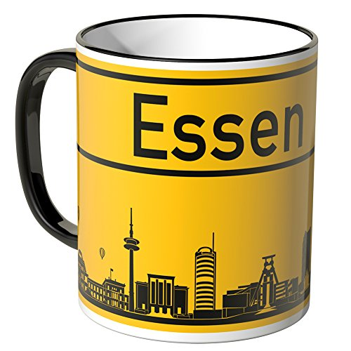 Wandkings® Tasse, Skyline Essen - SCHWARZ