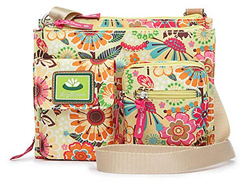 Lily Bloom BUSY BEE in Yellow Flower Garden Regina Crossbody Bag | Eco-Friendly | Multiple pockets/Compartments