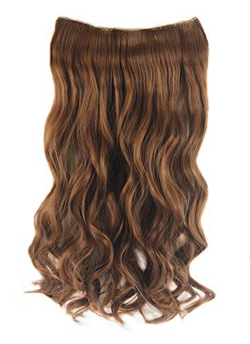 """Xiaoyu femmes dames 17,7 """"(45 cm) long ondulé ondulé 5 clips sur les extensions de cheveux - blonde"""