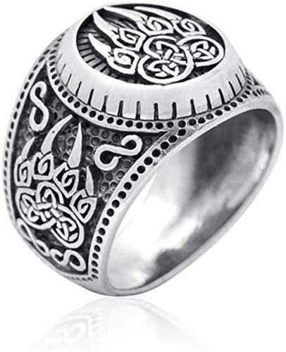 Feeyond Vikingos nórdicos Amuleto Anillo de la Pata de Oso, Plata Oro céltico del Anillo del Motorista del Nudo Garras Hombres joyería de los encantos,10