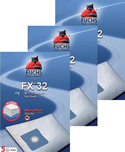 3 Pakete FXpro 32: 15 Staubsaugerbeutel, 3 Luftfilter, 3 Motorfilter für Dirt Devil Lifty Plus M 2012-1 Swiffy Plus Popster M 7098-1 Fantasy M 7011-3 Skuppy M 1564 M 7019 M 7099 M 7011 M M 7010 M 7080 M 7012 Progress PC 37... Grundig Bodyguard Fakir
