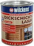 WILCKENS Dickschichtlasur 750ml ODER 2,5L Holzlasur FARBAUSWAHL seidenglänzend (Palisander,2,5 Liter)