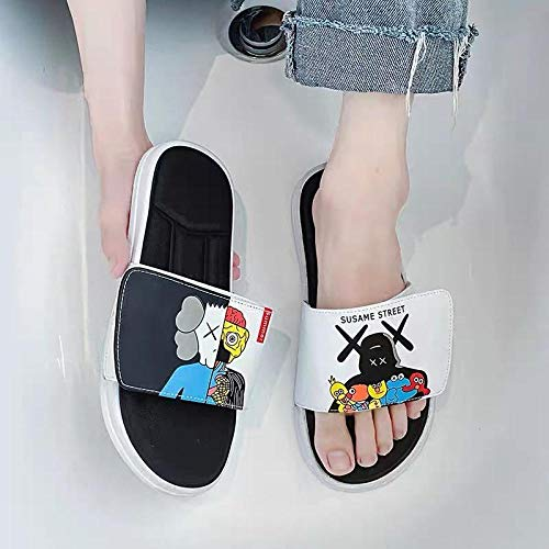 YYFF Planas Caminar Ortopedicas Zapatos,Pareja en Pantuflas, Antideslizante-White_45 / 46,Sandalias Hombre
