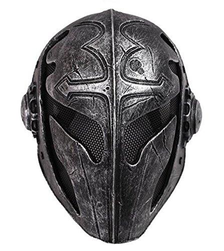 Tactical Full Face Schutz Knight Maske Templar, schwarz