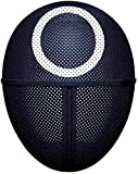 RAYPOW Máscara de Juego de Calamar · Hombre enmascarado · 1 Pieza Círculo Cosplay · Máscara de Plástico · TV Cosplay Accesorios de mascarada · Accesorios de fiesta de Halloween