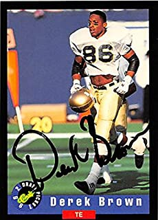 Autograph 124115 Notre Dame 1992 Classic Draft Picks No. 5 Derek Brown Autographed Football Card