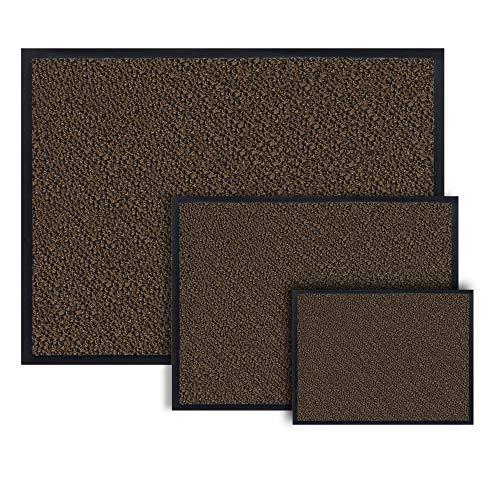 Entrando Fußmatte 90x60 in Braun Schwarz - mehrere Größen - Haustür Fussmatten - Fußabtreter ideal als Eingangstür Teppich