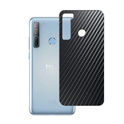 VacFun 2 Piezas Protector de pantalla Posterior, compatible con HTC Desire 20 Pro, Película de Trasera de Fibra de carbono negra
