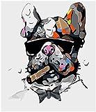 Yongliang Pintura Digital Pintura Bricolaje Pintura Al Óleo Relleno del Rompecabezas del Niño Adulto Pintura Simple 15.7 * 19.7 Pulgadas (Perro Que Fuma)