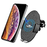 Automatic Clamping Wireless Car Charger Mount, AUDBOS Car Wireless Charger for iPhone Xs Max/XR/XS/X/8/8 Plus Samsung Galaxy S9/S8/S7/Note 8/9 Accessories,Qi-Enabled Phones,Wireless Charger Car Black