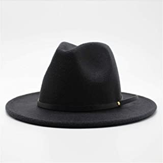 LiJuan Shen Fashion Women Men Wool Fedora Hat Wide Brim Church Hat Autumn Jazz Hat Fascinator Travel Hat Casual Wild Hat Size 56-58CM