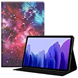 HoYiXi Custodia per Samsung Galaxy Tab A7 10.4 2020 Ultra Sottile Case in pelle Cover con Supporto Funzione Custodia di Tablet per Samsung Galaxy Tab A7 2020 T500 / T505 - galassia