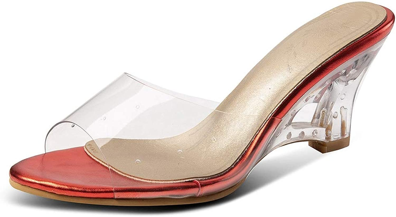 Vimisaoi Women's Slingback Peep Toe Pumps Wedge High Heels Sandals Ladies Dress Party shoes