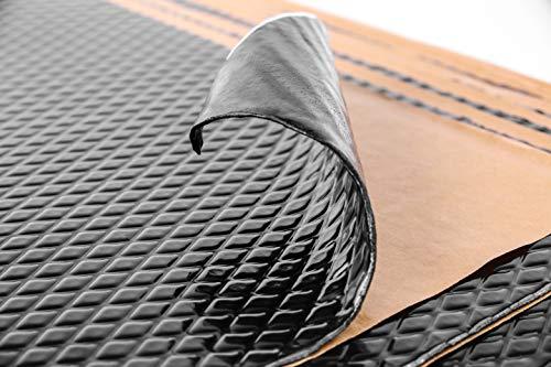 Noico Black 80 mil 10 sqft Car Sound Deadening Mat, Butyl Automotive Sound Deadener, Audio Noise Insulation and Dampening