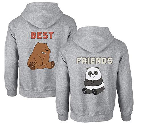 Mejor Amigo suéter, Mejor Amigo para Dos niñas Sudadera con Capucha BFF suéter Hermana Sudadera con Capucha Damas suéter Regalo de cumpleaños 2 Pieza