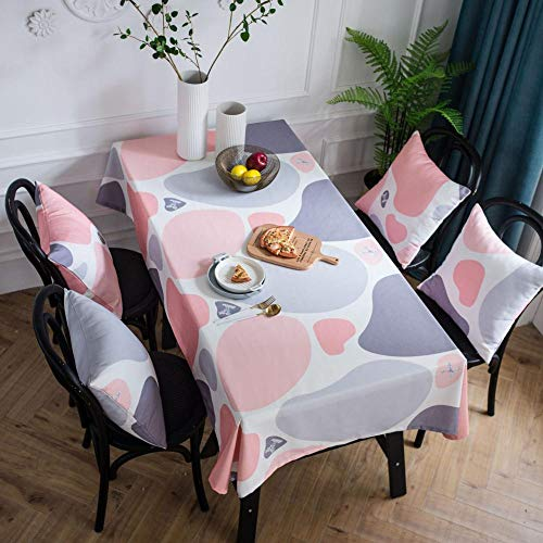 Alayth tafelkleed tuintafel waterdichte afdekking handdoek thuis tafelkleed tuintafelkleed roze print