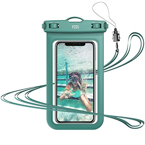 YOSH Funda Impermeable Móvil IPX8 Universal, Bolsa para Móvil Estanca a Prueba de Agua para iPhone 12 Pro Mini 11 XR X 8 7 6 Samsung S21 A51 A71 Xiaomi MI 9T Poco X3 RedMi Note 20 hasta 6.8'' (Verde)