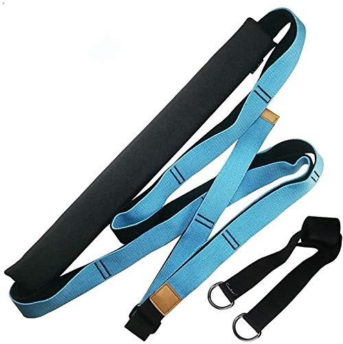 HYM, fasce di resistenza per yoga e ginnastica, per allungare le gambe., Blu