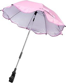 CLISPEED Stroller Parasol Baby Cart Sun Shade Sun Protection Umbrella For Wheelchairs, Walker, Pram, Stroller(Pink)