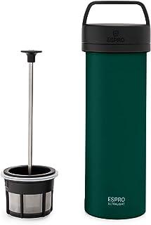 ESPRO French Press Ultralight - Mini macchina da caffè con funzione termica, in acciaio INOX, 475 ml, Acciaio INOX, verde,...