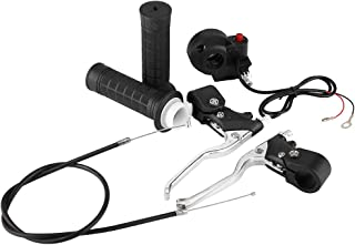 Akozon Handle Grips Kill On//Off Switch Throttle Brake Levers Kit for 47cc 49cc Mini Motorcycle Dirt Bike Brake Levers Kit