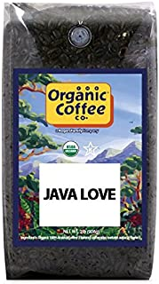 The Organic Coffee Co Java Love Whole Bean, 2 Pound Bag, USDA Organic Whole Bean Premium Coffee, For Use with At-Home Coffee Grinders and Coffee Makers