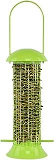 منصة طعام بلاستيكية للطيور من مستلزمات الحيوانات الأليفة للطيور البرية في الهواء الطلق في حديقة معلّقة للطيور