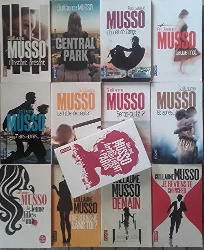 Lot de 13 Guillaume Musso (L'instant présent,Central park, l'appel de l'ange,...,La jeune fille est la nuit,Demain).