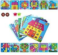 aerialjump Mosaik Steckspiel für Kinder ab 2 Jahre,Lernspielzeug Geschenke ,Pädagogische Baustein Sets, Steckspielzeug Kinderspielzeug,Bunte Steckspiel,Spielzeug mädchen 2 Jahre