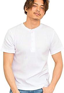 (キャバリア)CavariA メンズ 半袖 Tシャツ クルーネック ブイネック ヘンリーネック ストレッチ 3タイプ【+】