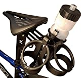 Bike Seat Water Bottle Holder   Three Bottle Cage Capacity   Road and Triathlon Specific Aero Design   Attach Bottle Cages (Included) and Two CO2 Cartridges (NOT included)