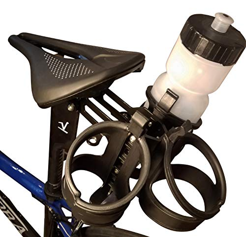 Valdora Three Cage Water Bottle Cage Mount - Behind Saddle Water Bottle Mount - Includes Cages. Capable of Many configurations Including Carrying CO2 cartridges