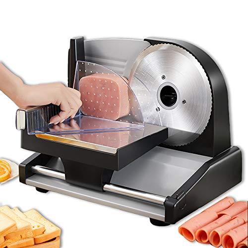 Rebanadora eléctrica pequeña de 200 W, cortador de carne para alimentos cocidos...