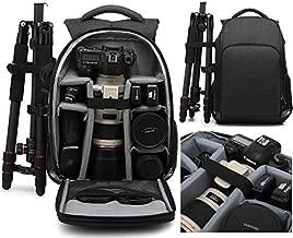 MUMAIS Canada Style 2021 Made Camera Backpack Bag Compatible(Canon Sony Nikon) Rain Cover Waterproof Shockproof Women Men Outdoor Photography Hiking Travel Camera for DSLR/SLR,Lens 0089 Nylon(Black)