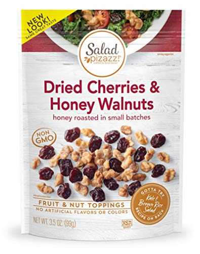 Salad Pizazz ! | Salad Topping | OZ - 12 3.5OZ (3.5 ) Resealable Bags Dried Cherries & Honey Toasted Walnuts ,42 Ounce