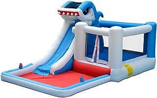 Castillo Inflable Los niños inflable Castillo hinchable Casa gorila con parque acuático soplador con tobogán Rocódromo Área de la piscina al aire libre for el jardín Castillo inflable y diapositivas