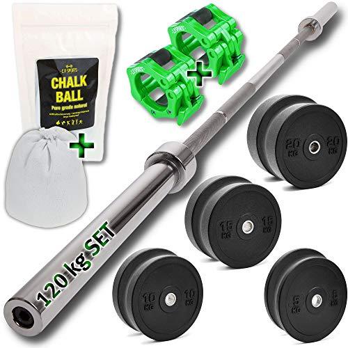 C.P. Sports Discos de pesas para barra de goma para pesas de 5, 10, 15, 20 kg, 100 kg - Set