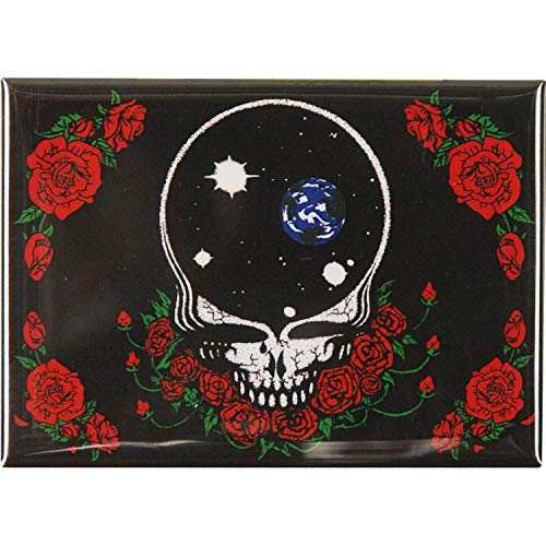 GRATEFUL DEAD GDP Inc. SPACE YOUR FACE & ROSES, Officially Licensed, 2.5' x 3.5' - Magnet