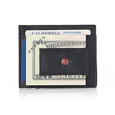 Alpine Swiss RFID Magnet Money Clip Wallet Black