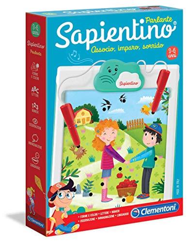 Clementoni- Sapientino Parlante New Gioco Educativo, Multicolore, 16215