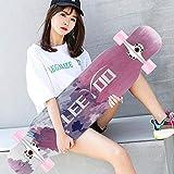HUADUO Longboard, Maple Skateboard Jungen und Mädchen Brush...