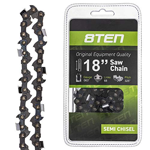 8TEN Chainsaw Guide Bar and Chain for Stihl MS 170 210 211 231 241 250 251 4717 22LPX068G 18 inch .063 .325 68DL