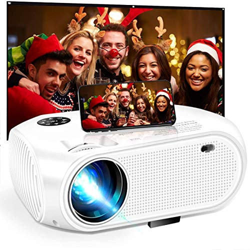 Mini proyector WiFi, 5000 Lux LED Home Film proyector...