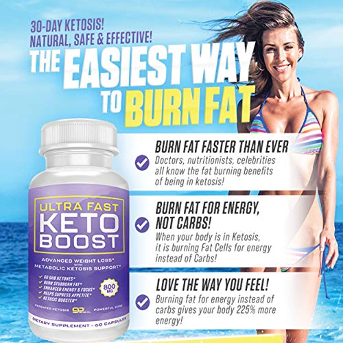 Ultra Fast Keto Boost - Advanced Weight Loss with Metabolic Ketosis Support - 800MG - 120 Capsules - 60 Day Supply 6